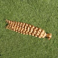 Extensões Do Cabelo Do Cabelo Humano Trança Profunda Onda Do Cabelo Humano Weave 100G 613 Largura de Trama Lixívia Loira 25 cm-65 cm