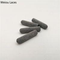 Weiou 4pcs / 1Set 3M Puntas de plástico reflectantes 22mm * 5mm Lujo gris Aglets para sudaderas con cordones Cordones Cordones Bootlaces Kits de zapatillas DIY