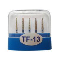 1 paquete (5 piezas) TF-13 Dental Diamond Burs Medium FG 1.6M para pieza de mano de alta velocidad dental Muchos modelos disponibles