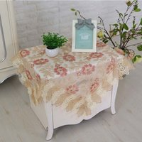 Modern minimalist elegant home square lace embroidered desk ...