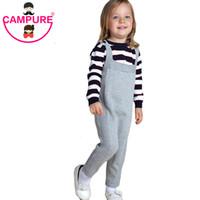Campure ребёнки Мальчики Вязание Комбинезоны 2016 Осень Дети Одежда Мода Мальчики Девочка Детские брюки Марка Хлопок Дети Брюки