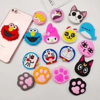 Multi modelli Silicone Cartoon Holders Espansione Supporto Stand Grip Clip Ring per SmartPhone Air Bag Cell Phone Bracket