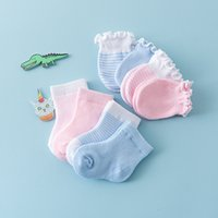 CieiK Baby Socks 4 Pairs lot Cotton Girls Boys Newborn Summe...
