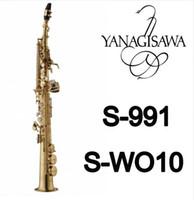Ücretsiz Kargo YANAGISAWA S-991 S-WO10 Pirinç Altın Lak Soprano B (B) Saksafon Performans Enstrüman Sax Aksesuarları Ile