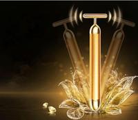 Rosto fino elétrico, 24 K beleza dourada massagem facial, massagem facial, barra de beleza rosto V