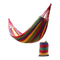 뜨거운 놀라운 놀라운 휴대용 120kg 짐을 해먹 잡아 침대 여행 캠핑 스윙 생존 야외 잠자는 가방 캔버스 스트 라이프 190 *