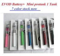 Evod Mini Protank 1 Pyrex Glas Elektronische Zigarettenstarter Kit 900mAh Vape Pen E CIG-Zigarettenset Mini Pro-Tank 1 Cigs-Zigaretten