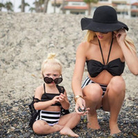 2018 Fashion Two- pcs Swimsuits Big Bow Hanging Neck Tops+ St...
