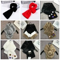 31colors Woman Winter Scarf Faux Rabbit Fur Scarf Collar Win...