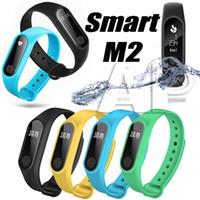 M2 pulseira inteligente relógio inteligente monitor smartband saúde faixa de fitness para Android Atividade rastreador relógios com pacote