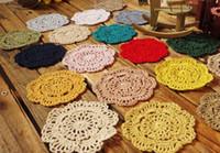500 шт. / лот старинные Diy ручной работы 10 см круглый стол коврик крючком подставки Zakka салфетки Кубок Pad реквизит