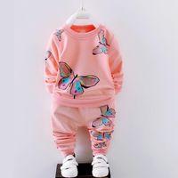 ربيع الخريف الوليد طفلة مجموعة ملابس الاطفال رياضية مطبوعة تي شيرت + السراويل 2 قطع ملابس الأطفال البدلة