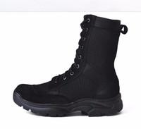 2018 Nowe buty bojowe Letnie męskie Outdoor Oddychające Buty Taktyczne Armii Męskie Lekkie Wojskowe Balki Buty Buty Buty Hombre Rozmiar 35 --- 44