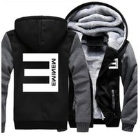 USA size Men Women hip- hop Eminem Zipper Jacket Sweatshirts ...