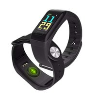 F601 F1 Plus Bracciale smart da 0,96 pollici Smartwatch a frequenza cardiaca Orologi da polso per la misurazione della pressione sanguigna Bracciale intelligente a pedometro Pulsometro intelligente