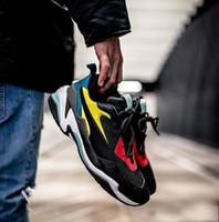 6c156323ce 2018 Nova Versão de Couro Genuíno Velho Ocasional Velho Pai Sapatos  Originais Thunder Spectra Respirável Couro
