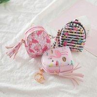 플라밍고 가방 모양 키 체인 코인 지갑 지퍼 작은 지갑 개인화 된 키 체인 핸드백 지갑 펜던트 패션 쥬얼리 6 색