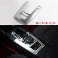 Consola Apoyabrazos coche del cambio de velocidad Panel de ajuste de la cubierta bandas de acero inoxidable labra los accesorios para Audi A3 14-16 8V