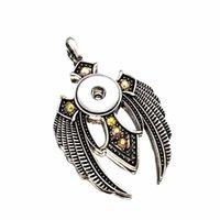 aile Interchangeable Ginger 266 Bouton collier pendentif bijoux Fit 18mm Bouton bijoux charme pour les femmes cadeau