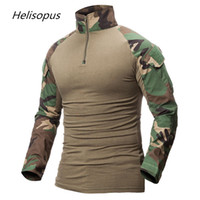 Helisopus Men Camouflage Print Army T- Shirt Male Combat Tact...