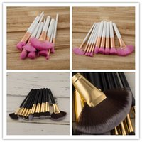 HOT Makeup Brushes10pcs Set Wood Handle Professional Cosmeti...