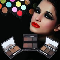 3 Colors Eyebrow Powder with Brush and Mirror Kit Eyebrow Co...