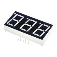 """0.56 дюймов 7 сегмент 3bit цифровой пробки общий катод красный светодиод цифровой дисплей 0,5 дюйма 0.5 0.56 дюймов 0.56"""" 0.56 в. три 3 бит"""