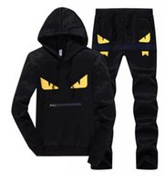 Men Little Monster Suits Abbigliamento sportivo Completi Giacca Tute Casual Felpe Felpe con cappuccio Long Jogger Pants Suit