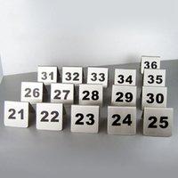 Numero di tavolo Numero di tessere 1-100 Segnaposto da tavolo in acciaio inossidabile per piccoli ristoranti
