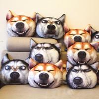 Фабрика прямые продажи 3D Плюшевые Игрушки Симпатичные собаки головы моделирования подушек забавная подушка Мягкие игрушки игрушка подушка подушки автомобиля