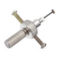 جودة عالية القرص بهلوان Lockpick القرص الحاجز قفل اختيار أدوات الأقفال المهنية الفولاذ المقاوم للصدأ الفضة اختيار مجموعة