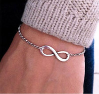 Wholesale- New Women Men Infinity Charm Jewelry Bracelet 8 S...