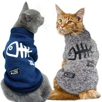 Cute Cat Clothing Winter Pet Puppy Dog Clothes Hoodies For S...