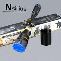 NSIRIUS Taktik 3-9X50 AO Tüfek Dürbünü Tam Boy Mil Dot Kırmızı Yeşil Mavi llluminate Av Tüfek Kapsam