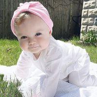 7PCS 1-6 سنوات الأطفال قبعات الطفل القطن للجنسين بنات اولاد قبعات الوليد التصوير الفوتوغرافي الدعائم لون الحلوى بيني اكسسوارات MZ30