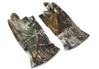 Guanti mimetici di caccia camuffamento anti-slittamento 3 dito tagliato / guanti da tiro / guanti tattici impermeabile / antivento all'aperto