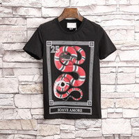 HOT 18ss Men skulls Snake shirts summer fashion calssic luxu...