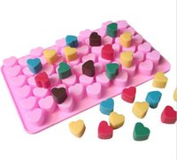 New Bar 55 Holes Bake Cake Mold 1. 5 Mini Heart Silicone Choc...