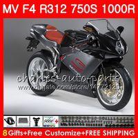 Body For MV Stock black Agusta F4 R312 750S 1000 R 750 1000CC 05 06 102HM.36 750 S 1000R 312 1078 1+1 MA MV F4 2005 2006 05 06 Fairing kit