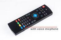 20PCS X8 MX3 2.4GHZ لعن بعد ماوس لاسلكي الهواء يطير الماوس لوحة المفاتيح QWERTY الدوران الاستشعار عن بعد IR التعلم مع المسجل Micphone صوت