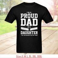 e1cb37cf Funny Top Gift Dad T Shirts I'M A Proud Dad Of Freaking Awesome Daughter Joke  T-Shirt For Best Daddy Summer Tops & Tees Size S-3