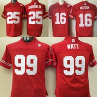 564981b092d Youth Wisconsin Badgers Jerseys #99 J.J. Watt #16 Russell WILSON #25 Melvin  Gordon College Football Jerseys