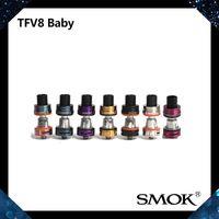 Smok TFV8 Bebek Tankı Bebek Canavar Atomizer 3 mltop Ile Dolgu Tasarım Ile Geliştirilmiş Dolum Yuvası Ayarlanabilir Hava Akımı Sistemi V8 Bebek Q2 Bobin 100% Orijinal