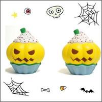 8 photos wholesale halloween novelty toys hallowmas squishy new pu simulation pumpkin ice cream squishy slow rising