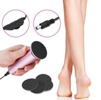 Elektrische Hornhautentferner Professionelle Pediküre Elektronische Fußfeile Schnell Entfernen Füße Ferse Trocken Hart Dead Skin Schwielen durch DHL