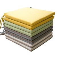 Cojín de la almohadilla de la estera cuadrada de la tela escocesa Cojines de la meditación Cojín de la almohadilla de la estera Decoración de Coussin para el sofá de la oficina en casa