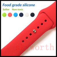 Silicone Sport Band Replacement For Apple Watch Band Wrist S...