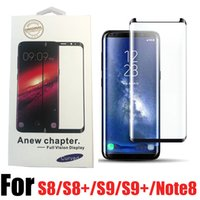 Case Friendly Scaled Down 3D Curved Tempered Glass for Samsung Galaxy S9 Plus S8 Plus note 8 Screen Protector With Retail Box