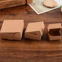 3 размер маленький коричневый крафт бумаги коробки коробки картонные коробки упаковочные коробки для подарков свадебные услуги упаковки мыло для выпечки Akes Cookies шоколадная упаковка
