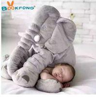 BOOKFONG 40/60 cm Infantil Elefante De Pelúcia Macia Apaziguar Elefante Playmate Calma Boneca de Brinquedo Do Bebê Elefante Travesseiro Brinquedos de Pelúcia Boneca de Pelúcia